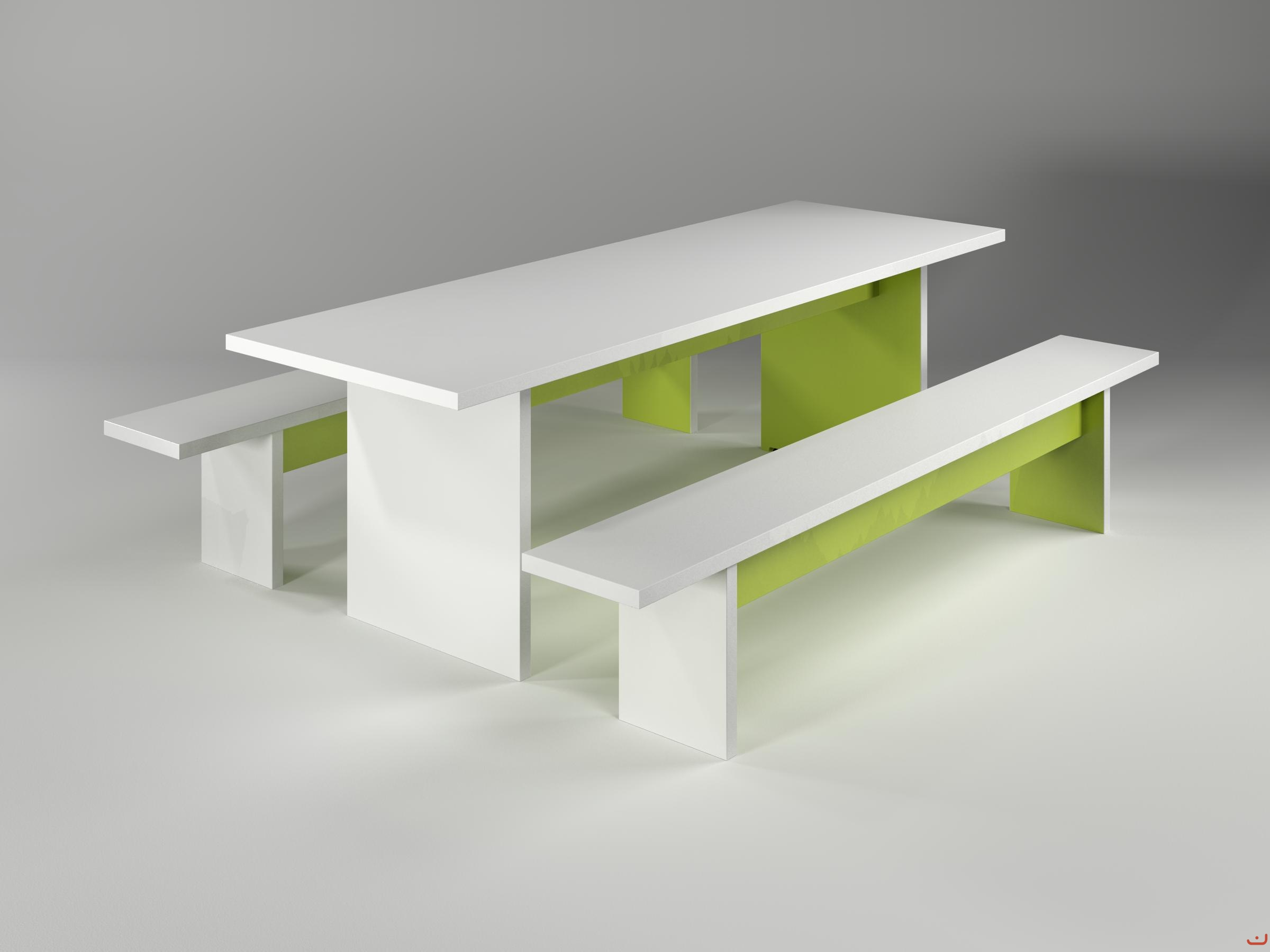 Jive-Canteen-Furniture-Green-White-ABS-Edging