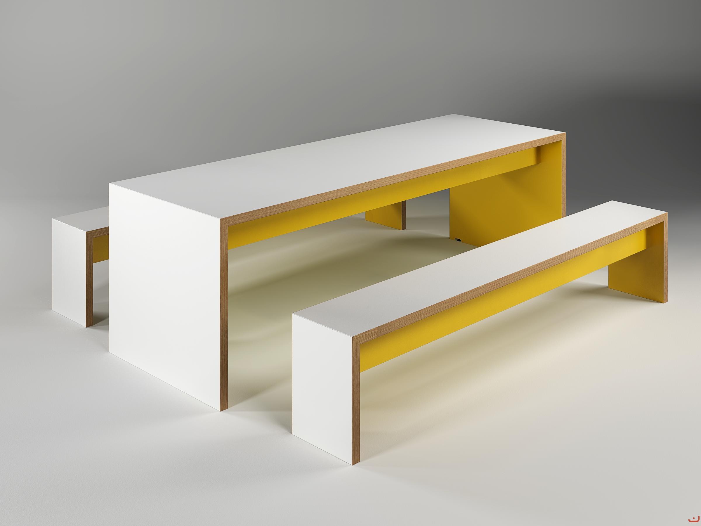 Jive-Canteen-Furniture-Yellow-Benching-Solid-Oak-Edging