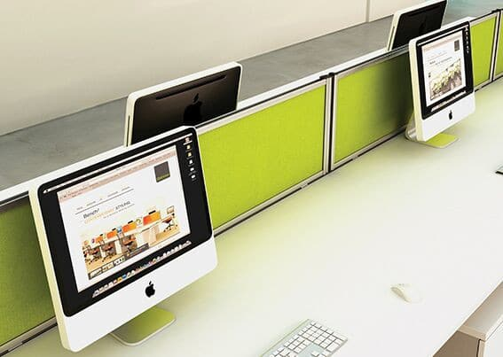 Green-Straight-Top-Office-Desk-Dividers