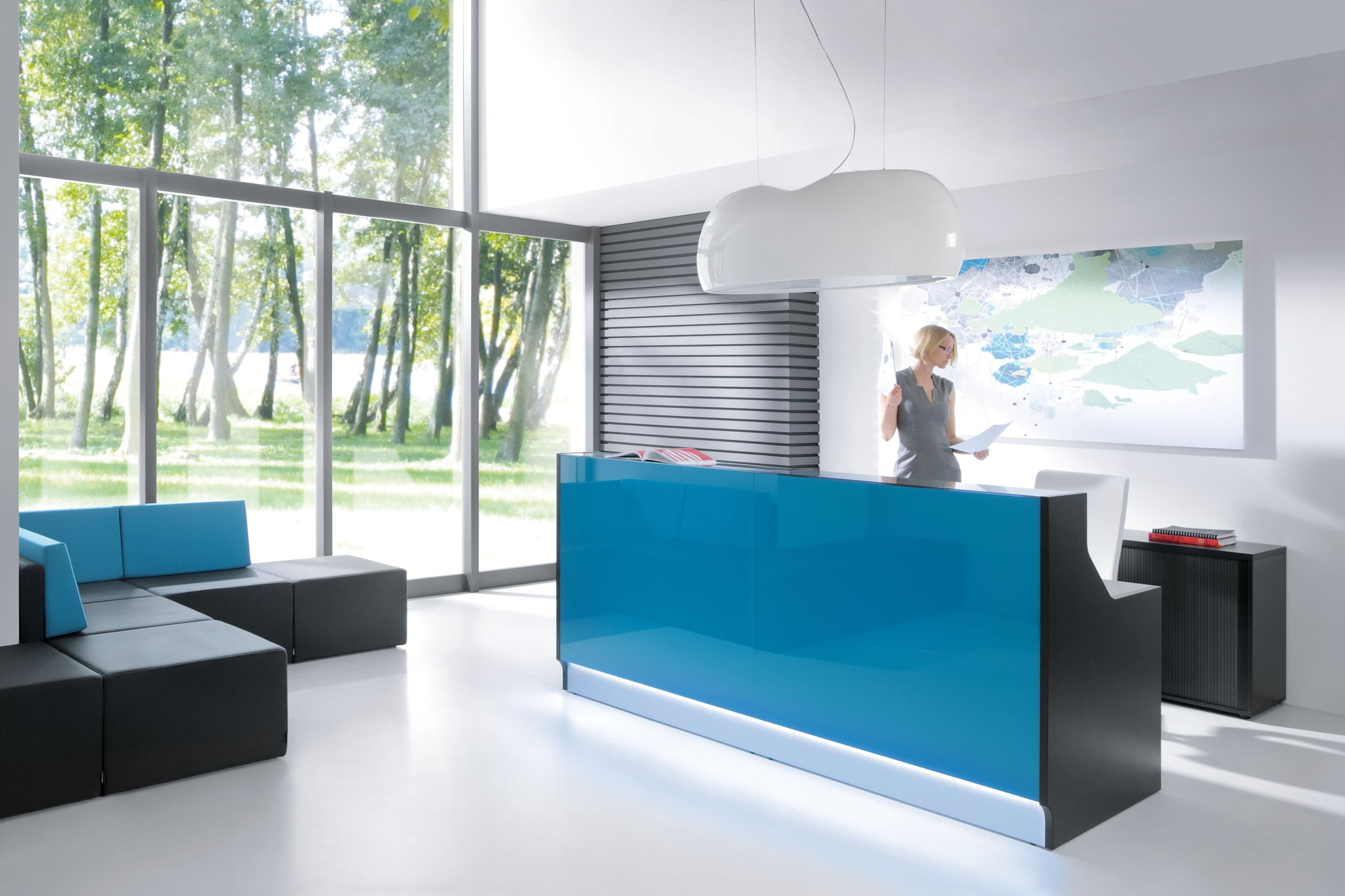 Linea Reception Desk MDD In Situ
