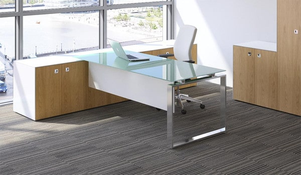 Fulcrum-CE-Glass-Top-Executive-Desk-Chrome-Frame