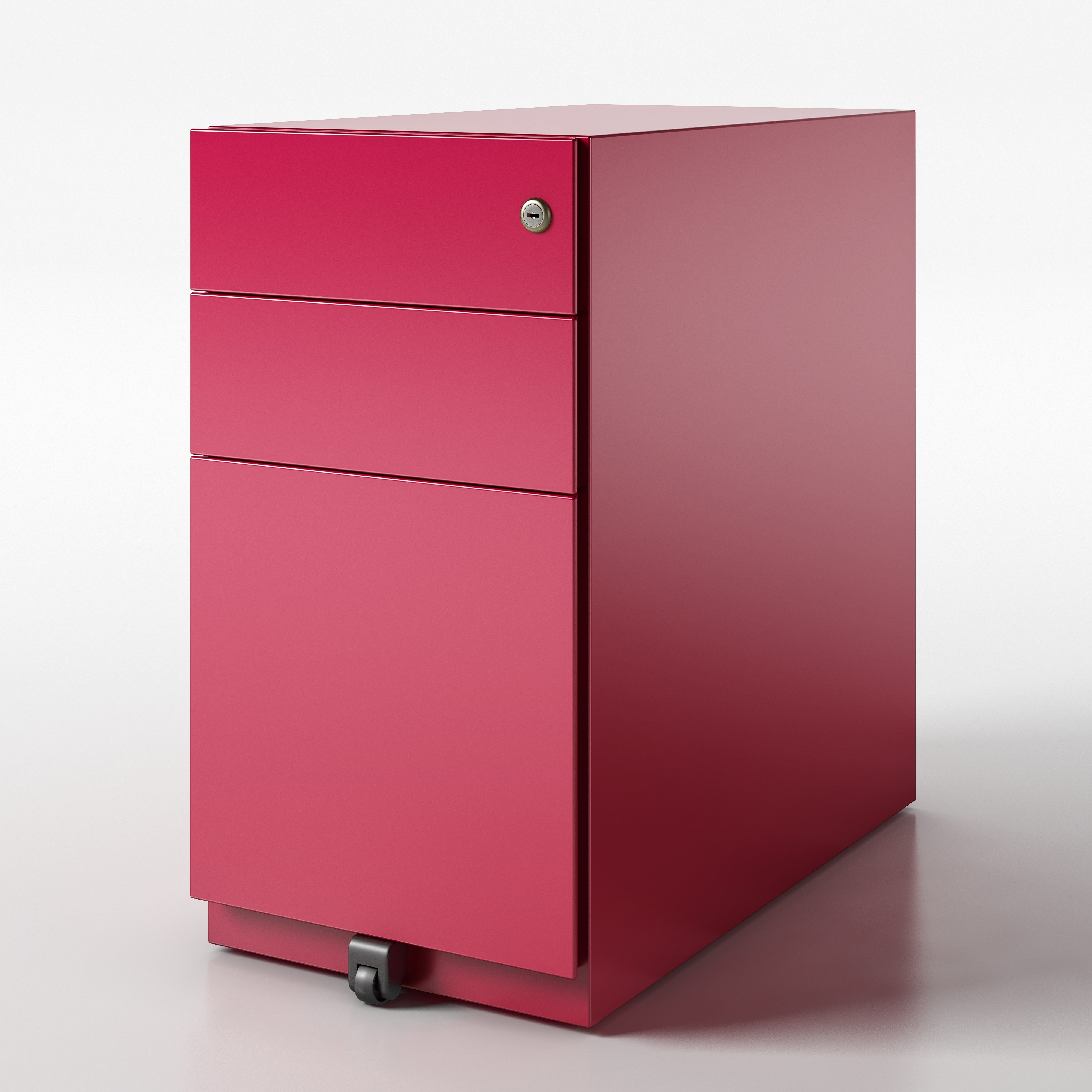 Cardinal Red Note Pedestal Bisley