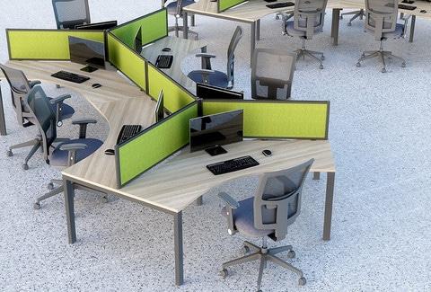 Mesa-Bench-Desks-120-Degree-Workstation-Cluster-In-Situ