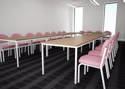 Rectangular-Top-Meeting-Table-Round-Leg-Set-Up