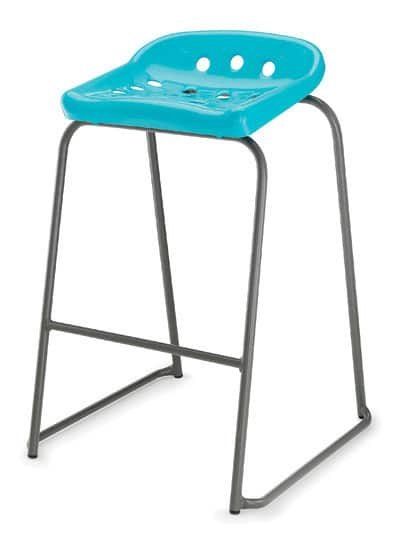 Pepperpot-Blue-Plastic-Classroom-Stool-with-Grey-Skid-Frame-and-Foot-Bar