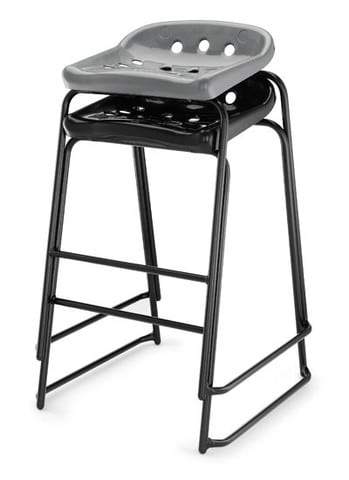 Pepperpot-Black-and-Grey-Plastic-Classroom-Stools-Stacked-with-Foot-Bar