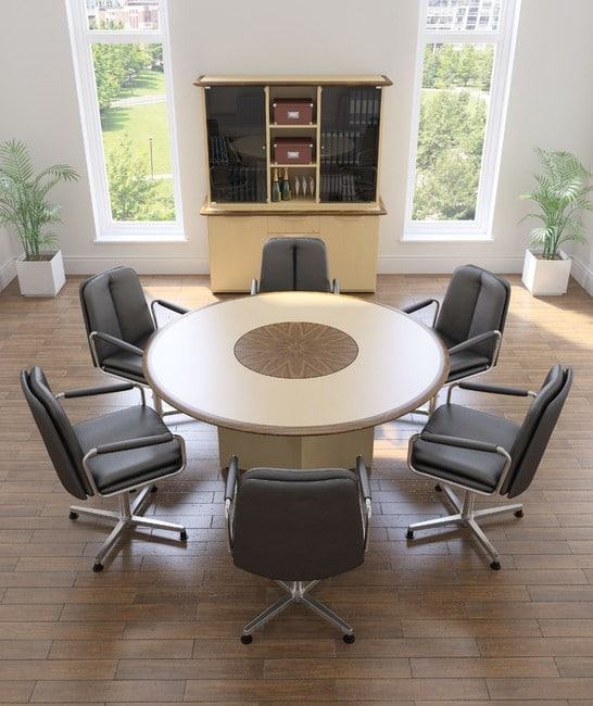 Ele-Black-Leather-Swivel-Base-Conference-Chairs-In-Situ