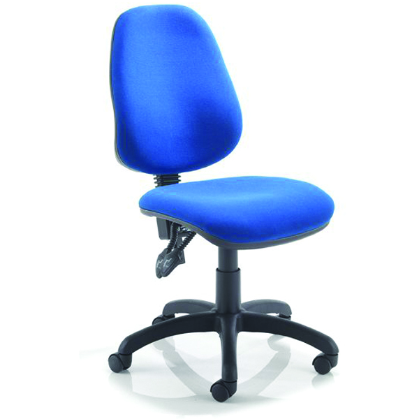 Blue Operator Chair without Arms