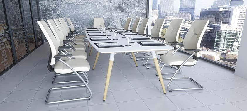 Moment-Boat-Shaped-Top-Meeting-Table-Wooden-Legs