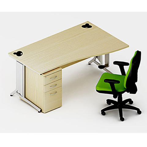 x10-Cantilever-Frame-Flat-Pack-Desk-In-situ-with-Pedestal